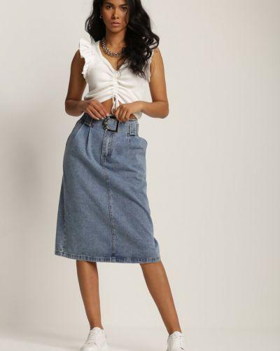 Spódnica jeansowa - niebieska Renee