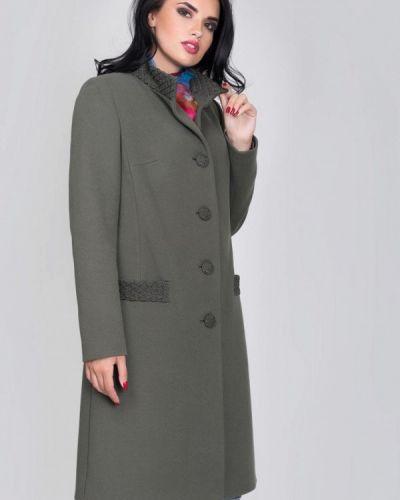 Пальто с капюшоном хаки Sergio Cotti
