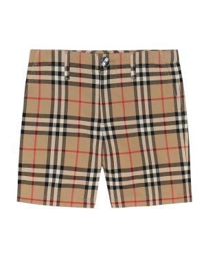 Короткие шорты бежевые винтажные Burberry Kids