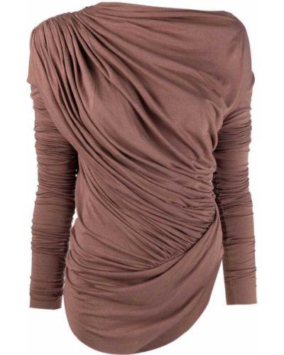 Розовая блузка из вискозы с запахом Rick Owens Lilies
