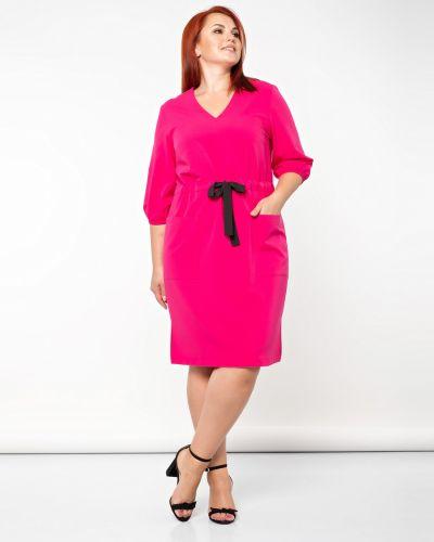 Приталенное с рукавами платье с поясом Dora