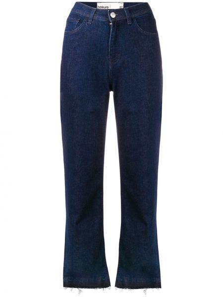 Расклешенные джинсы с бахромой на пуговицах Haikure