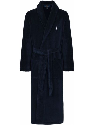 Хлопковый халат - синий Polo Ralph Lauren