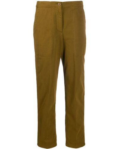Укороченные брюки зеленый брюки-хулиганы Aspesi