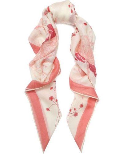 Платок розовый из шерсти Loro Piana