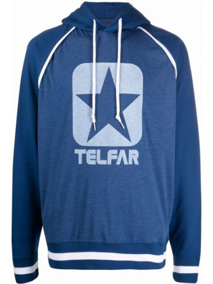 Biała bluza z kapturem Telfar