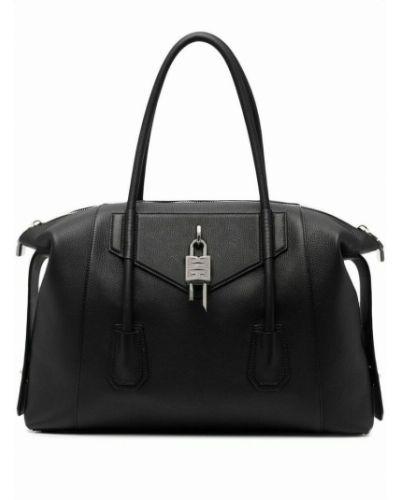 Teczka skórzana - czarna Givenchy