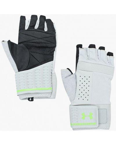 Перчатки для фитнеса серые Under Armour