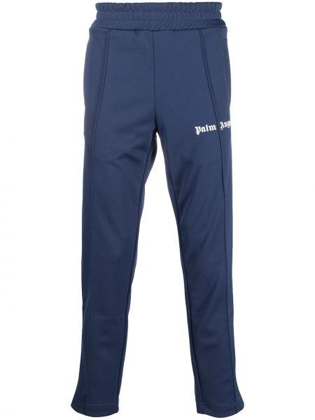 Prosto niebieski spodnie w paski z boku z paskami Palm Angels