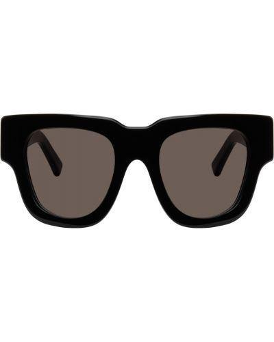 Czarne okulary skorzane Acne Studios