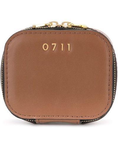 Torba kosmetyczna skórzany z logo 0711