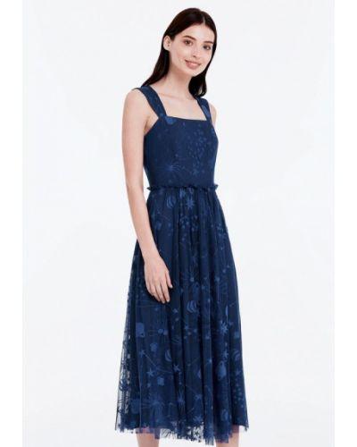 Синее платье весеннее Musthave