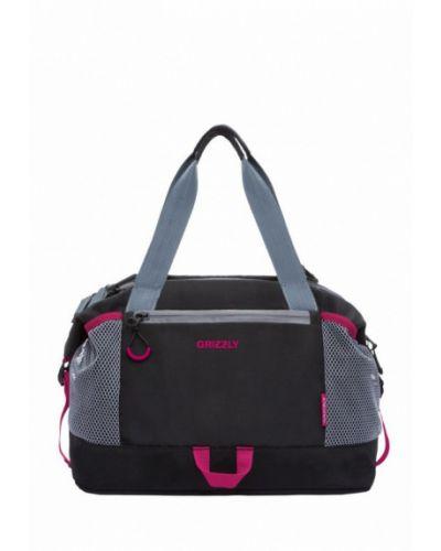 Черная спортивная сумка Grizzly