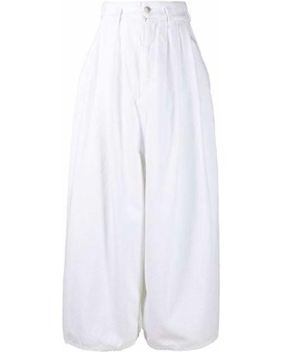 С завышенной талией белые укороченные брюки с карманами Isabel Marant