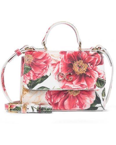 Różowa torebka skórzana Dolce & Gabbana Kids