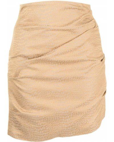 Asymetryczny z wysokim stanem spódnica mini złoto Acler