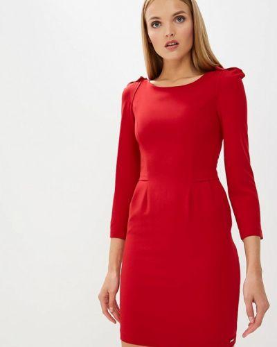 Красное платье с длинными рукавами Armani Exchange