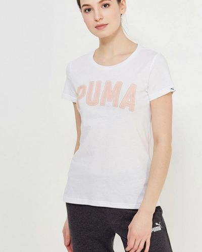 Белое поло спортивное Puma