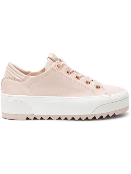 Розовые кожаные кроссовки на шнуровке Michael Michael Kors