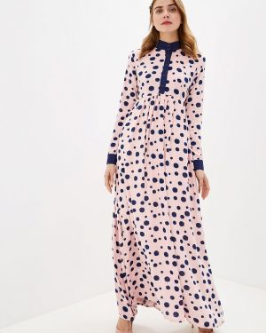 Платье розовое прямое Sahera Rahmani