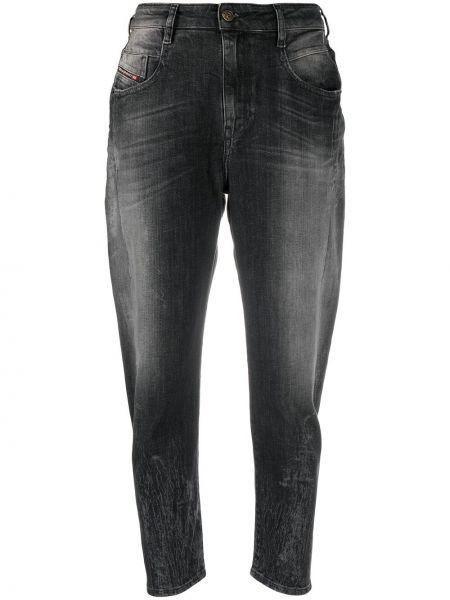 Хлопковые облегающие серые джинсы-скинни Diesel
