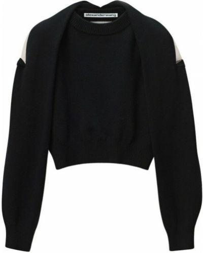 Czarny sweter tiulowy Alexander Wang
