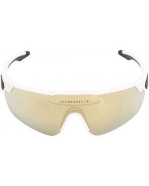 Złote czarne okulary z printem Italia Independent X Bbc