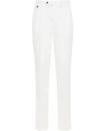 Białe spodnie bawełniane Pantaloni Torino
