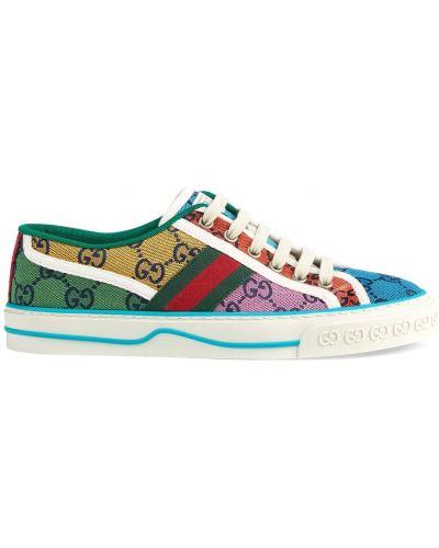Klasyczne białe sneakersy sznurowane Gucci