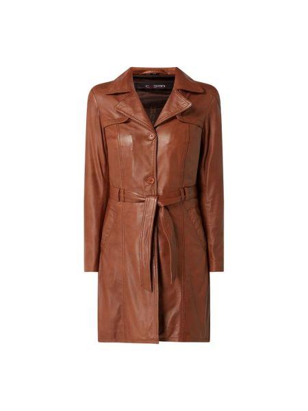 Brązowy płaszcz z wiązaniami Cabrini