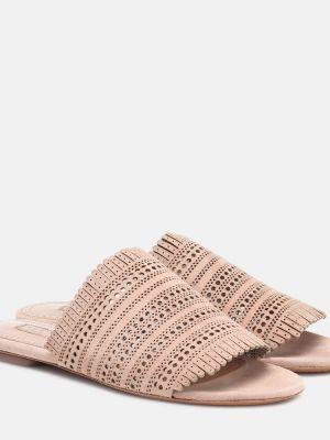 Бежевые туфли Alaïa