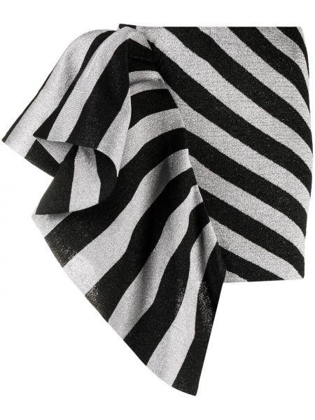 Асимметричная черная юбка мини металлическая Laneus