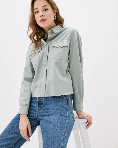 Зеленая джинсовая рубашка Befree