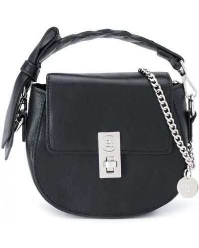 Черная сумка с карманами с бантом Abel & Lula