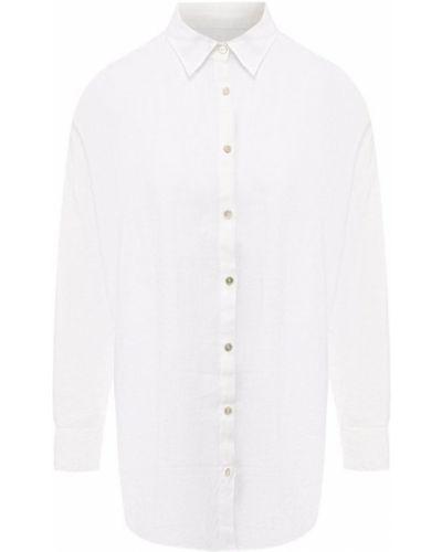 Льняная рубашка - белая 120% Lino