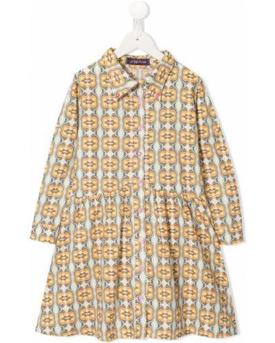 Платье плиссированное на пуговицах Spilow