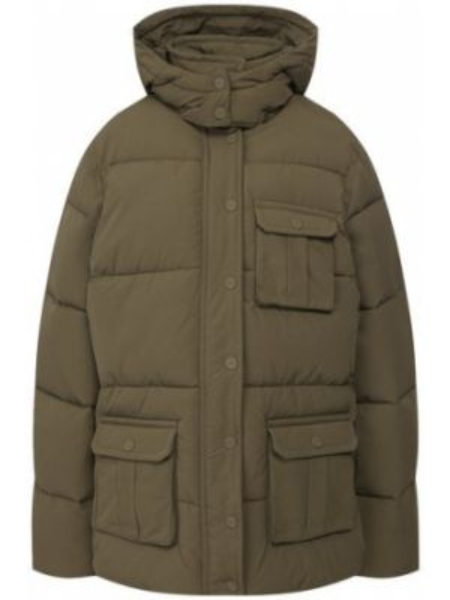 Куртка с капюшоном утепленная нейлоновая Ganni