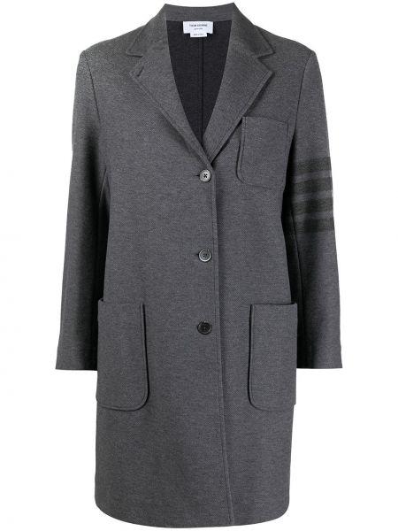 Серое хлопковое пальто Thom Browne