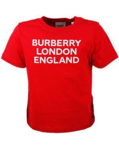 Czerwony t-shirt bawełniany Burberry