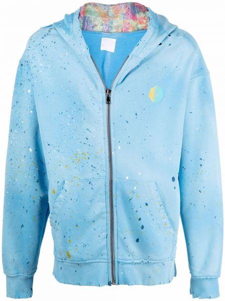 Niebieska bluza z kapturem bawełniana Alchemist
