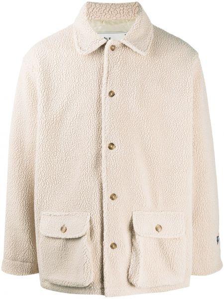 Beżowa długa kurtka z długimi rękawami Drole De Monsieur