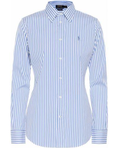 Классическая рубашка белая в полоску Polo Ralph Lauren