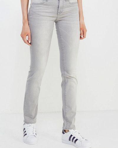 Серые прямые джинсы Tom Tailor