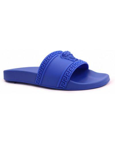 Niebieskie kapcie Versace