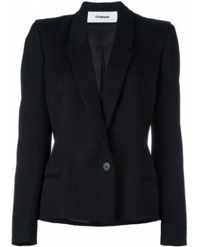 Черный приталенный пиджак Chalayan