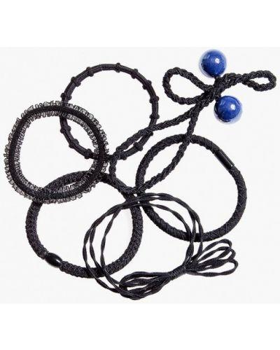 Резинка для волос набор черная Aiyony Macie