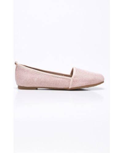 Розовые балетки текстильные Tamaris