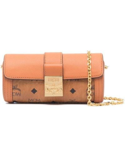 Кожаная сумка - коричневая Mcm