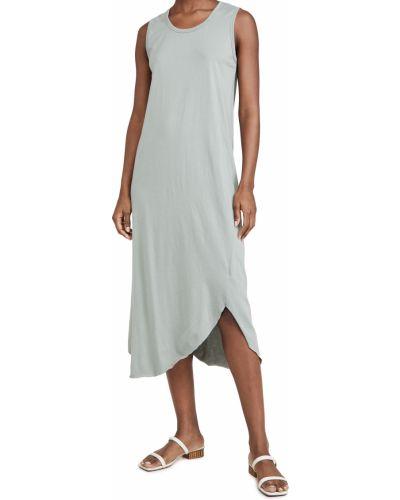 Ватное асимметричное трикотажное платье Frank & Eileen