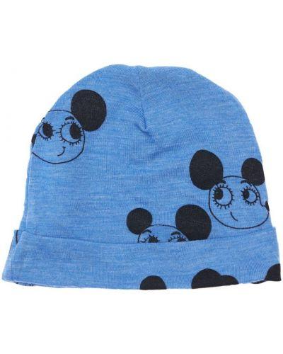 Шерстяная шапка - синяя Mini Rodini